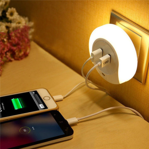 USB Socket Charger LED Night Light