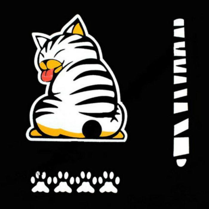 Rear Window Car Decals Cat Stickers