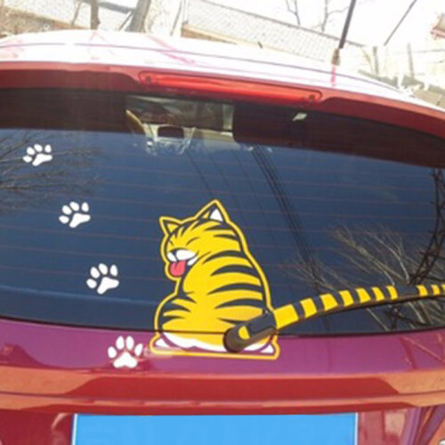 Rear Window Car Decals Cat Stickers