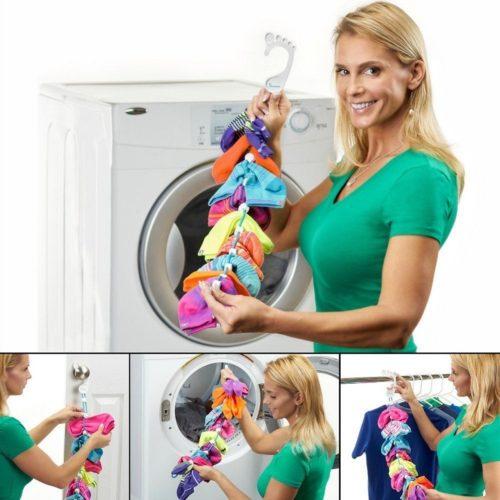 Sock Organizer Laundry Hanger Clips