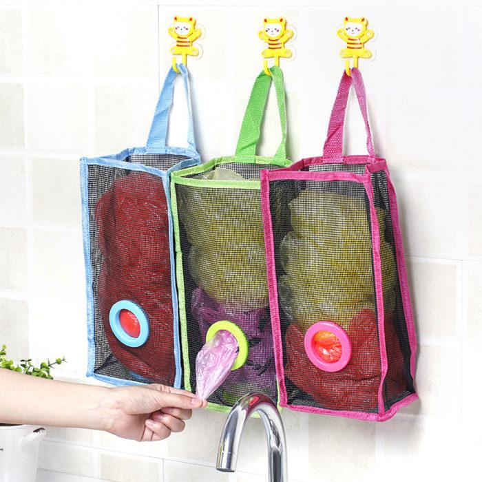 Plastic Bag Holder Mesh Storage