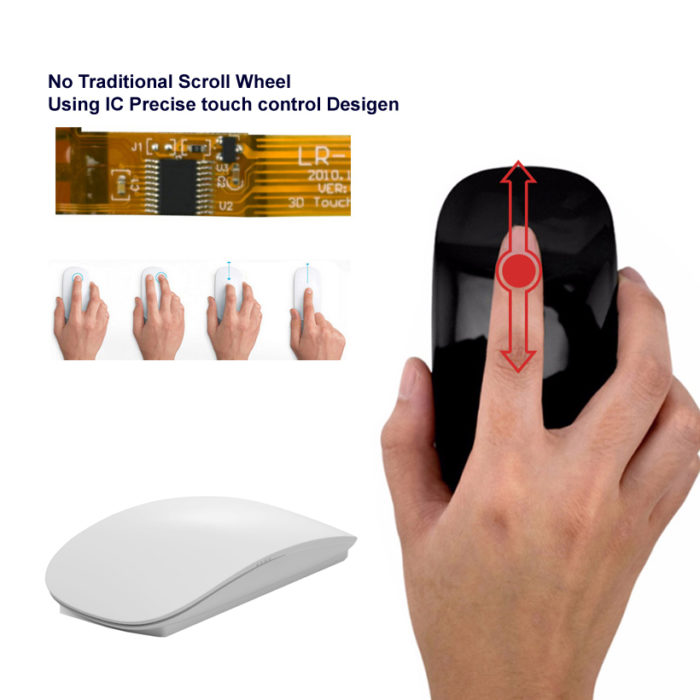 Wireless Magic Mouse Touch Sensitive - Black no acrylic box