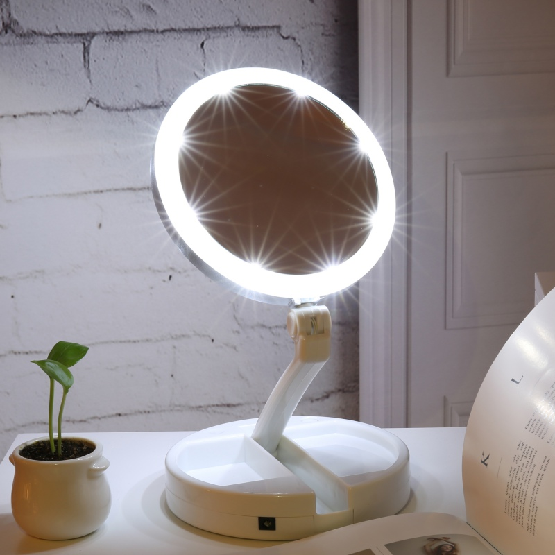Wireless Makeup Vanity Mirror with LED Lights - Life ...