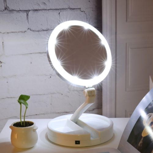 Wireless Makeup Vanity Mirror with LED Lights