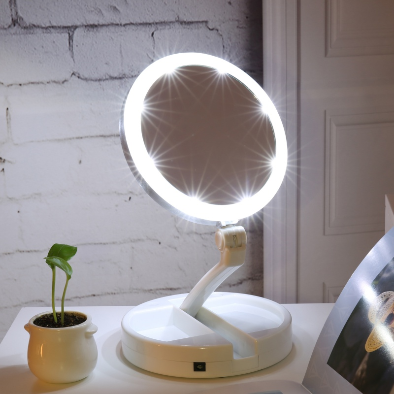 Wireless Makeup Vanity Mirror With Led Lights Life