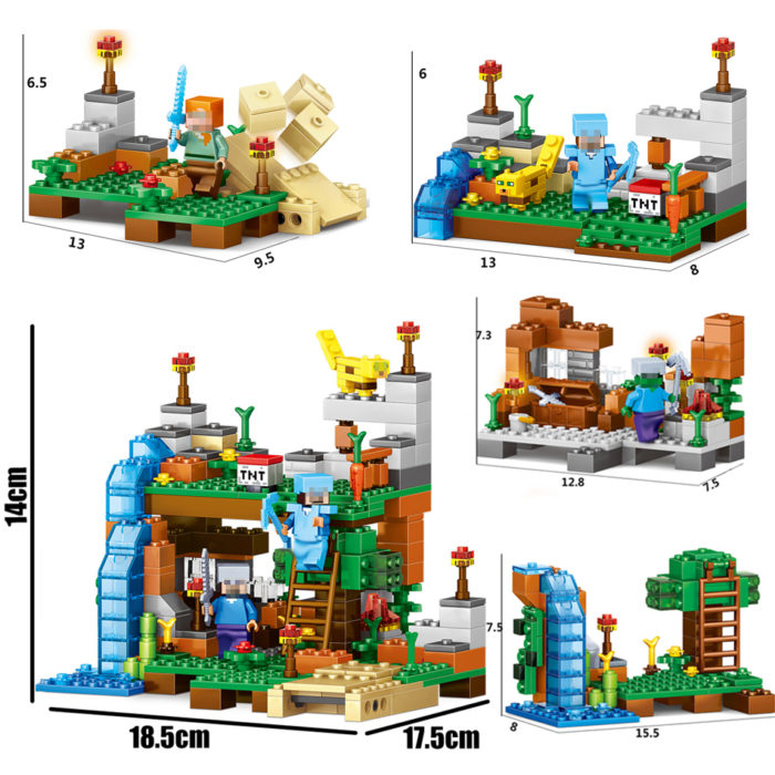 378pcs Lego Bricks Minecraft Building Toys