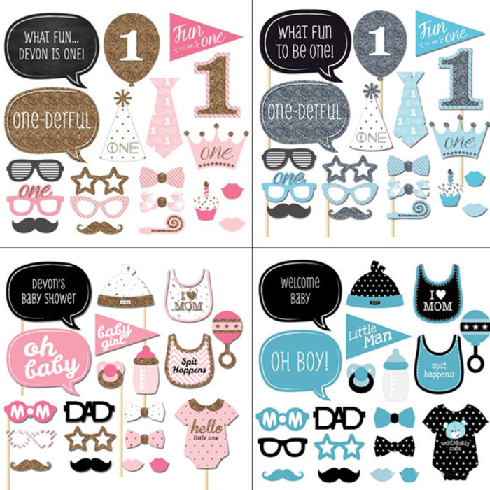 1st Birthday Party Decorations Photobooth Props