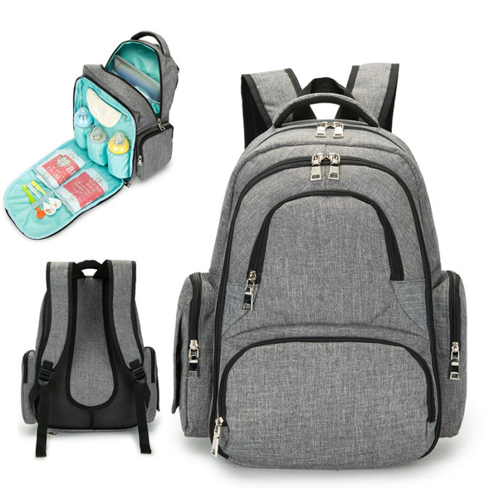Baby Bag Diaper Changing Backpack - LD23RED