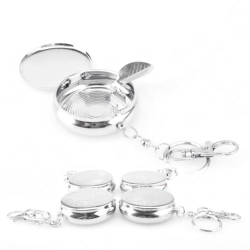 Portable Ashtray Stainless Steel Keychain