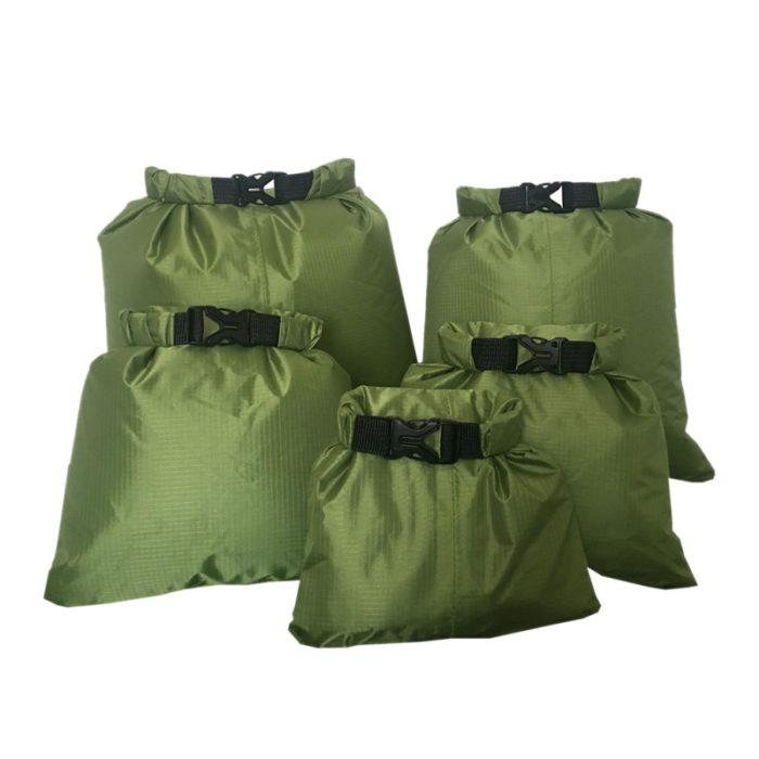 Dry Bag Waterproof Nylon Storage Pouch - 3pcs black