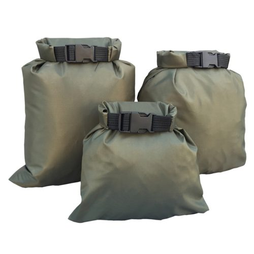 Dry Bag Waterproof Nylon Storage Pouch - 3pcs black
