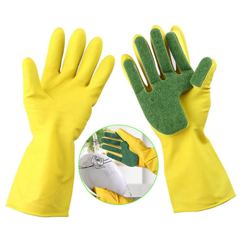 1pair Dish Cleaning Gloves Multipurpose Sponge