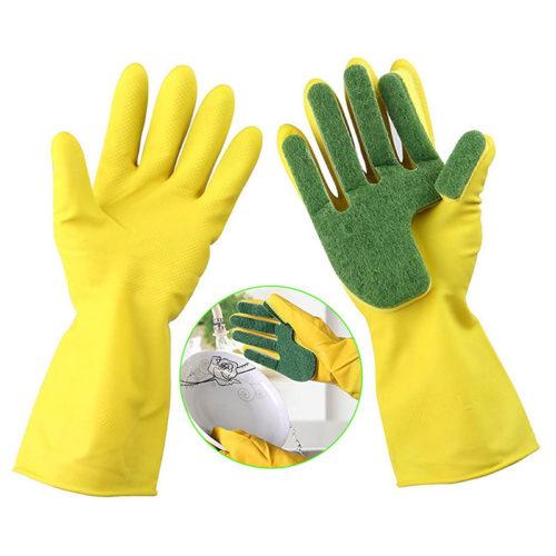 1pair Dish Cleaning Gloves Multipurpose Sponge