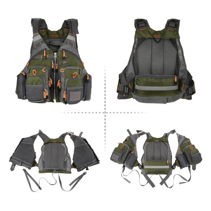 Fishing Vest Outdoor Survival Safety Jacket