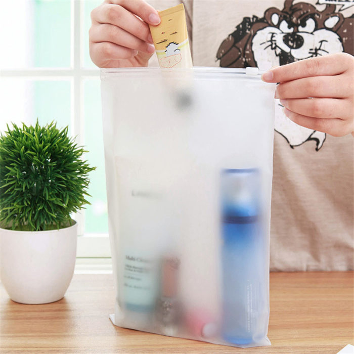 Waterproof Zipper Bag Plastic Storage