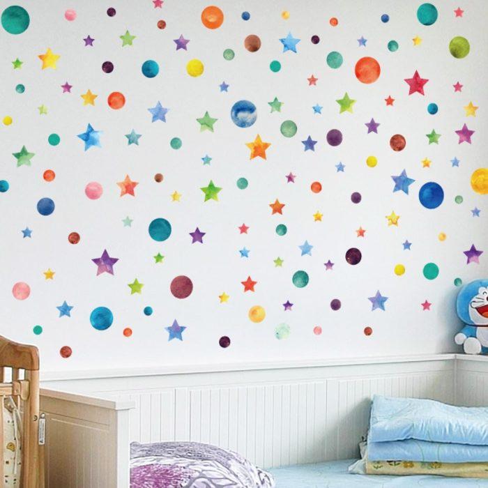 Rainbow Color Bedroom Wall Stickers Decor