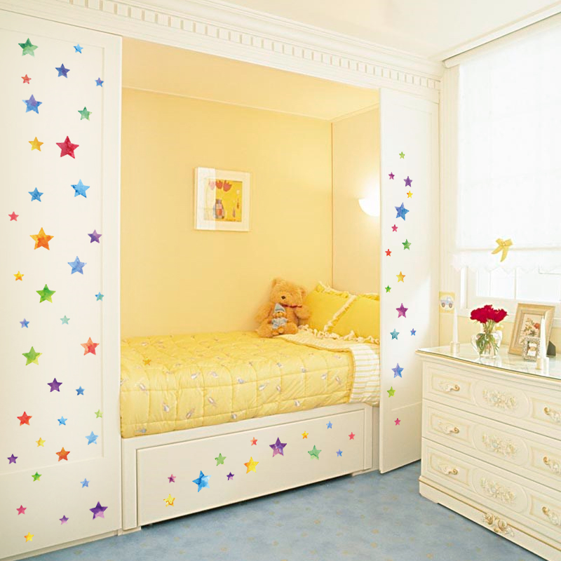 Rainbow Color Bedroom Wall Stickers Decor