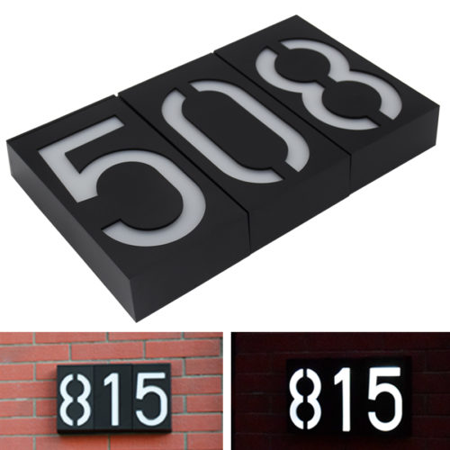 House Numbers LED Door Sign Plate