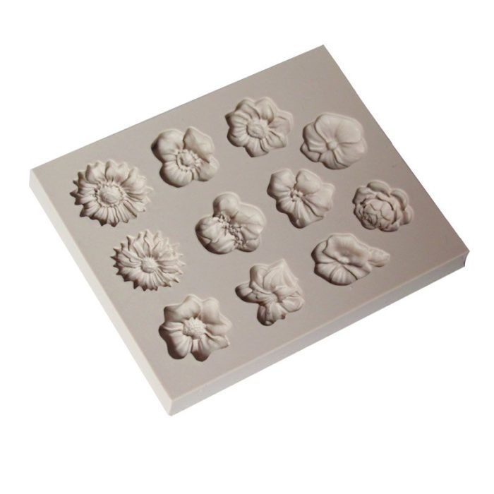 Candy Molds Silicone Flower Fondant Maker