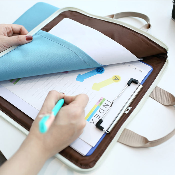 Fabric Document Holder Reusable File Pouch