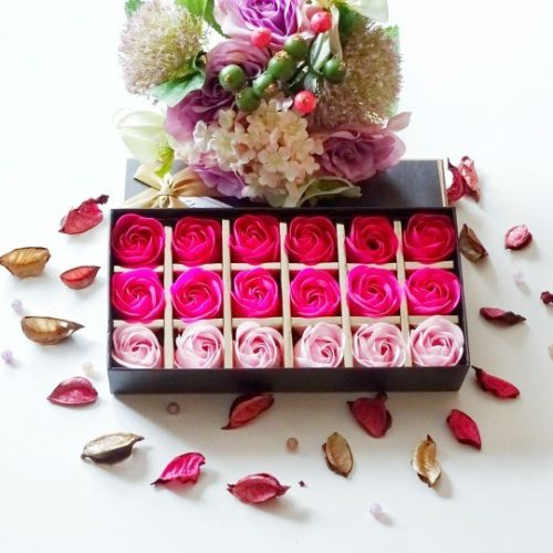 18pcs Flower Rose Soap Handmade