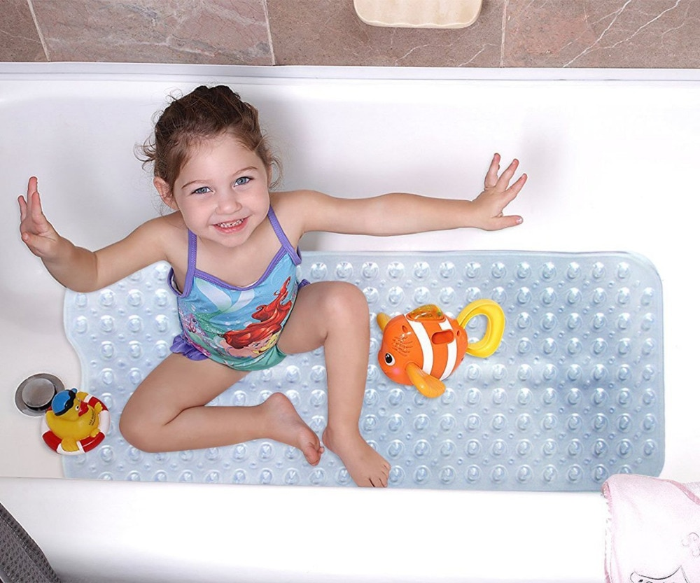 Non Slip Bath Mat Suction Grip Life Changing Products