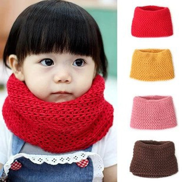 Knitted Kids Scarf Winter Neck Warmer
