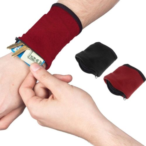 Wrist Wallet Band Zipper Running Pouch