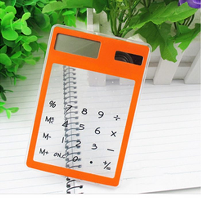 Transparent Solar Calculator Touch Screen
