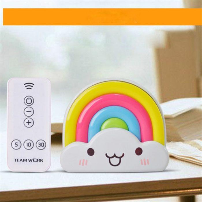 Rainbow Baby Night Light Sound Sensor