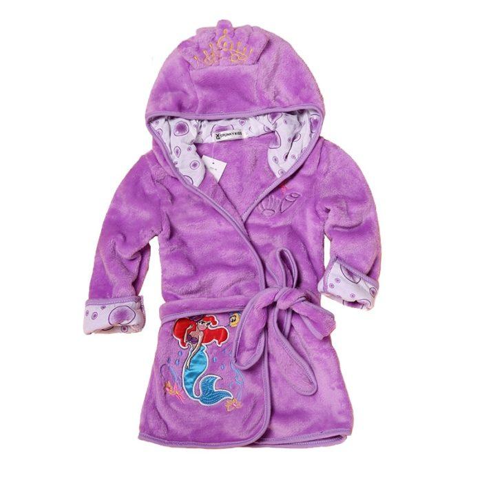 Kids Bathrobe Animal Hooded Towel