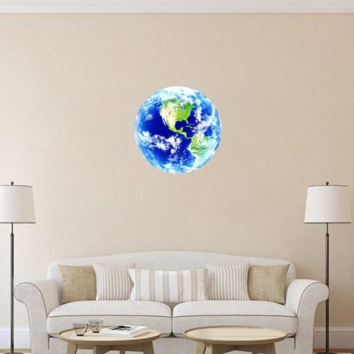 Blue Earth Glow in the Dark Sticker