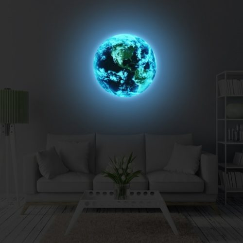 Blue Earth Glow in the Dark Sticker