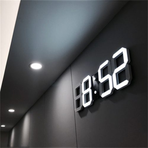 3D Digital Wall Clock LED Light