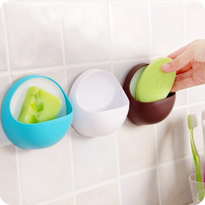 Plastic Shower Rack Suction Storage Holder