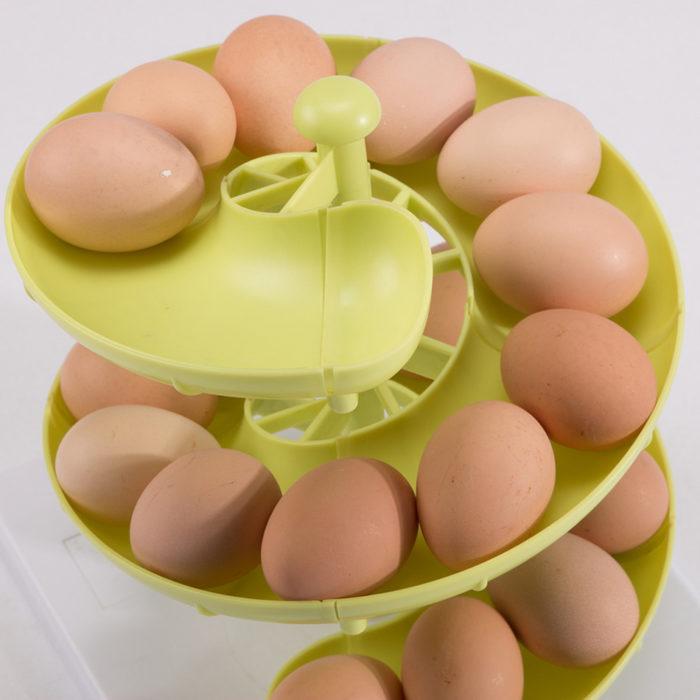 Spiral Egg Holder Kitchen Plastic Storage
