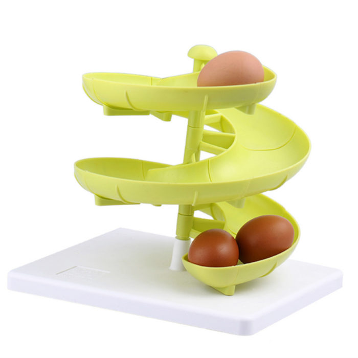 Spiral Egg Holder Kitchen Plastic Storage