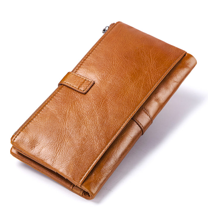 Leather Long Wallet Women Style