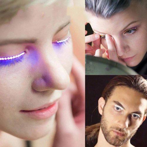 1pair LED Eyelashes Light Up False Lashes