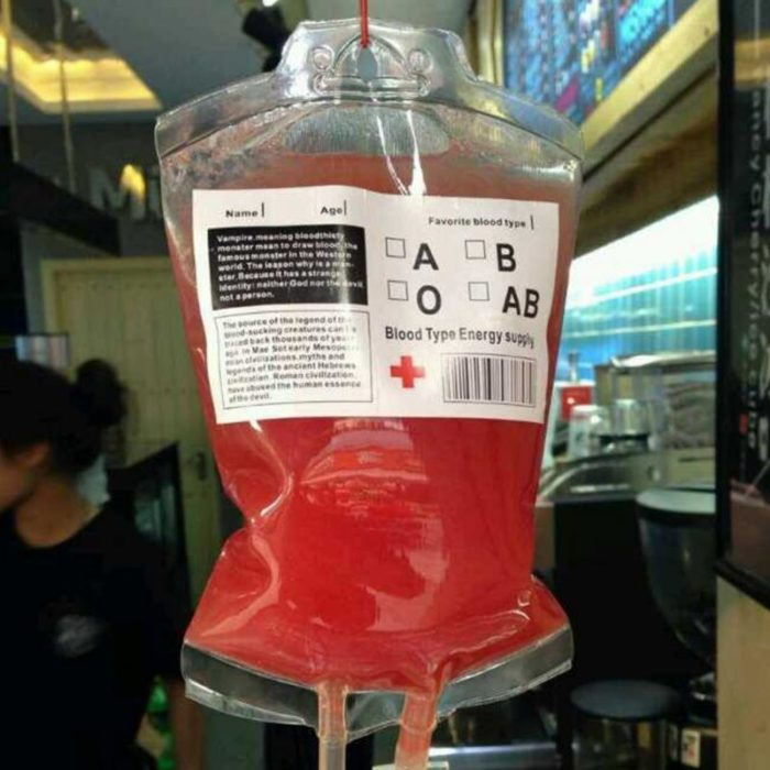 Blood Bag Drink Pouches Juice Bag
