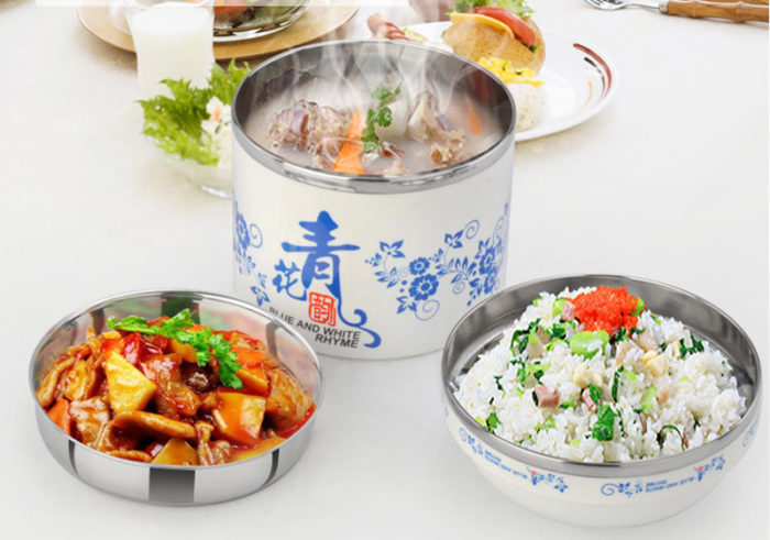 Japanese Style Food Thermos Lunch Box Bowl