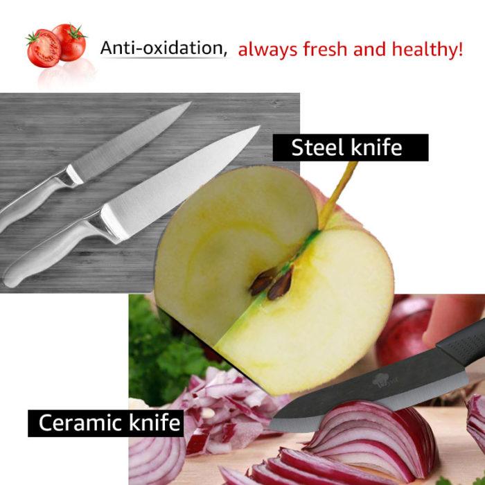 Kitchen Ceramic Knife Peeler Set