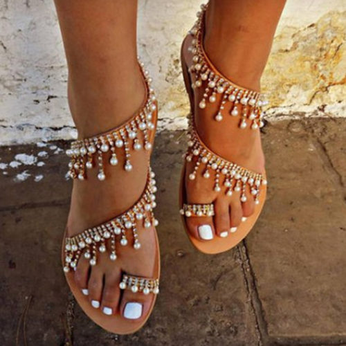 Flat Pearl Comfortable Sandals