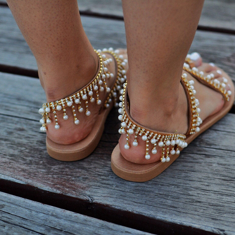 Flat Pearl Comfortable Sandals Life Changing Products