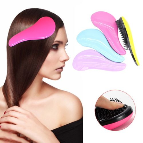 Portable Anti-static Hair Straightener Brush