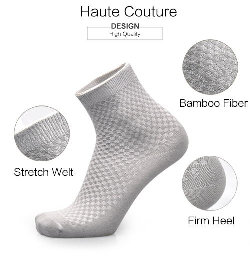 5pairs Men Bamboo Socks High Absorbent