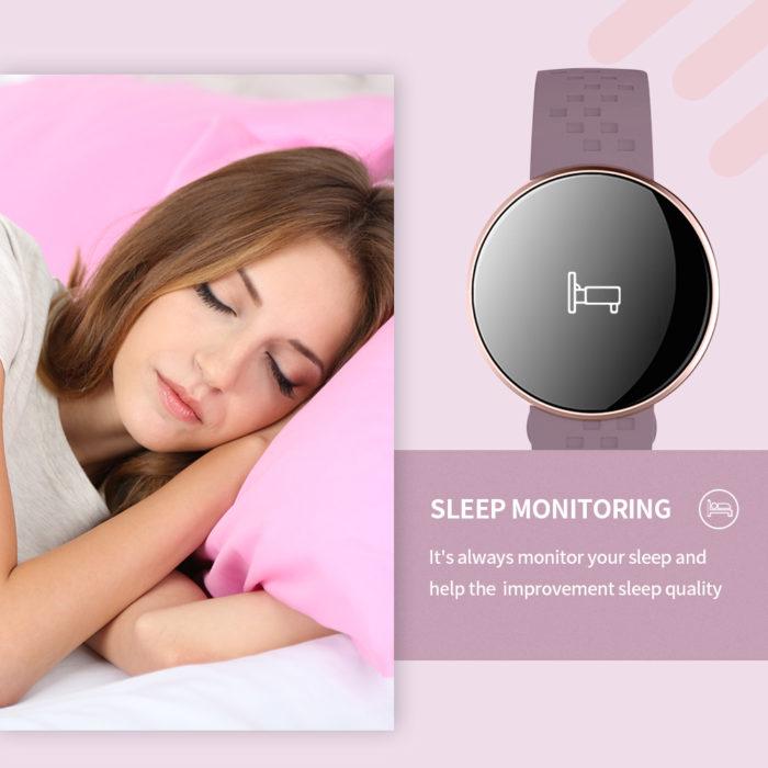 Ladies Smart Watch Fitness Monitor