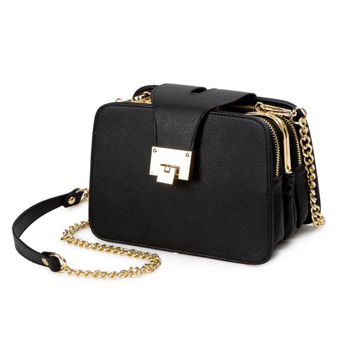 Small Shoulder Bag Black Clutch