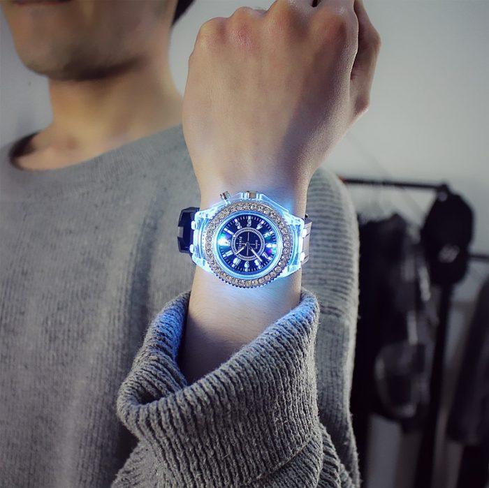 Unisex Luminous Watch LED Wristwatch -