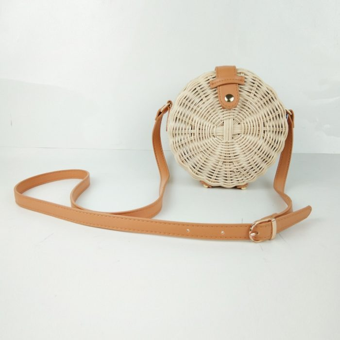 Wicker Rattan Bag Handmade Purse